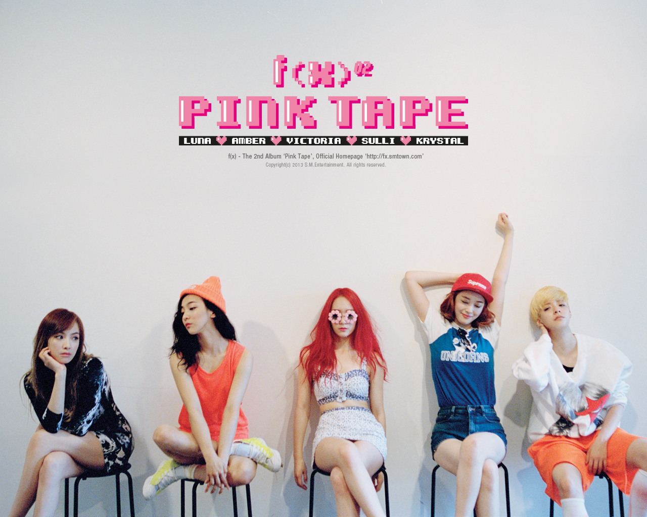 [OFFICIAL] 130729 f(x) = 'Pink Tape' Wallpapers [3P] | f(♥) F(x) Amber Pink Tape